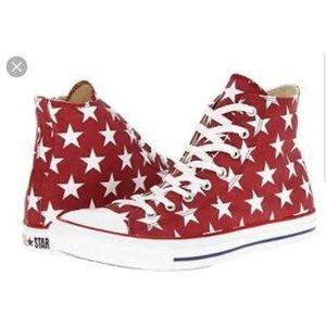 ISO Red w/ white star jester converse women's sz 8